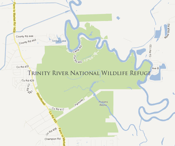 Trinity River National Wildlife Refuge Map
