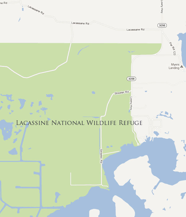 Lacassine National Wildlife Refuge Map